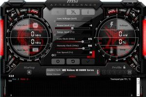 Настройка MSI Afterburner для майнинга